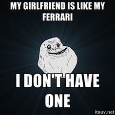 This entrty in the Forever Alone meme also works for gay men who don't own a Ferrari.