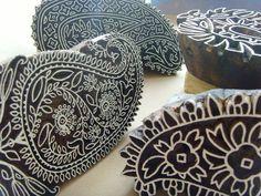 Wood Paisley printing blocks;The Indian Block Company