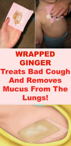 Wrapped Ginger – Treats Bad Cough And Removes Mucus From The Lungs!