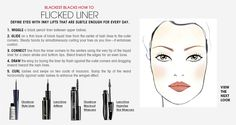 Fall Trend: Blackest Blacks Flicked Liner How To. #Sephora #ColorVision