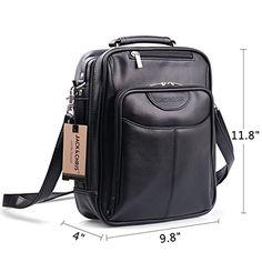 JackChrisMens Leather Cross Body Handbag Shoulder Messenger Bag Sling  BagMBYX019   Learn more by visiting the f7a48b0de98e9
