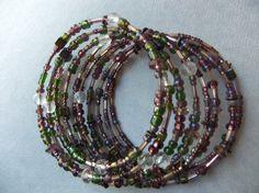 Aurora Borealis Memory Wire Bracelet by centerofbalance on Etsy, $35.00