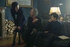 Miss Peregrine et les enfants particuliers : Photo Asa Butterfield, Eva Green, Tim Burton