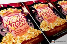 Movie Night Flyer Creativework  Flyer Templates  Flyers