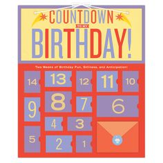 Knock Knock's Birthday Countdown Calendar is an advent calendar which counts down the days before the big day. Great birthday gifts for kids and adults.