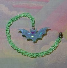 • ♥ • pastel goth jewelry, creepy cute jewelry, lolita jewelry, pop kei, halloween jewelry, bubble goth jewelry, bat necklace • ♥  https://www.etsy.com/shop/starlightsparkles