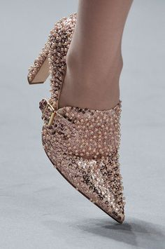 Jasper Conran Rose Nude Sparkling Pump London Fall 2012 #Shoes