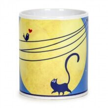 Rooftop Cat Coffee Mug