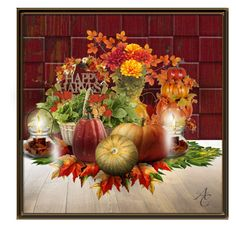 Happy Harvest by kwaldrip on Polyvore featuring art
