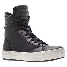 Buy Kurt Geiger Ace Leather Hi-Top Trainers Online at johnlewis.com