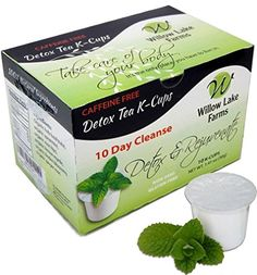 Willow Lake Farms 10 Day Detox Tea Cleanse Kcups Decaffeinated  >>> For more information, visit image link.