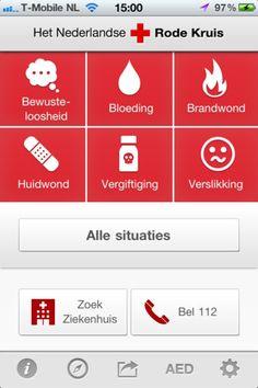 EHBO - app Misschien ook handig om te downloaden!