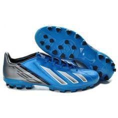 size 40 b545d e8736 Adidas F10 TRX AG Crampons Football Bleu Blanc Argent