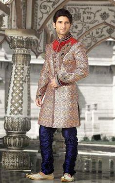 Royal Looking Men Wedding Sherwani Suit. Shop @ Glowindian.com
