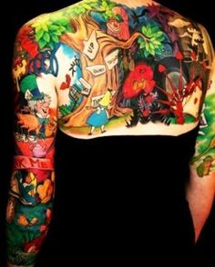 Alice in wonderland tattoo im absolutely in awe of!!