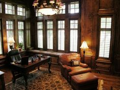 Traditional Home Office Leather Design, Pictures, Remodel, Decor and Ideas - page 4