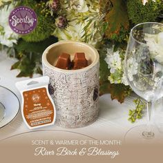 Loving our newest Scentsy warmer and the beautiful scent of Blessings.     www.karenburnett.scentsy.us