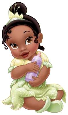 princesas disney baby Disney Fairies, Disney Magic, Disney Art, Disney Pixar, Little Disney Princess, Princess Tiana, Disney Girls, Hades Disney, Baby Disney Characters