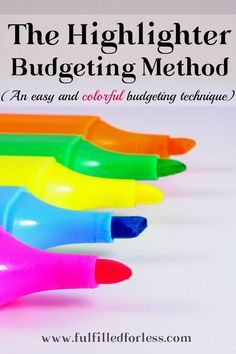 Highlighter budgeting--the easy (and dare I say fun?) method that is perfect for your first budget! Even after all these years, this is still my favorite way to budget.