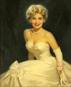 So radiantly lovely! vintage pinup girl