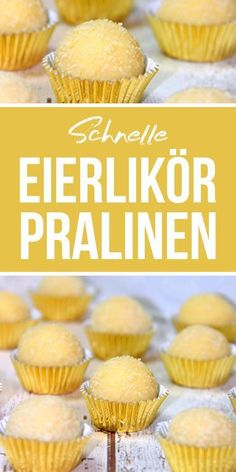 Eierlikör Pralinen Much yummy is this little treat. The eggnog chocolates are a great gift idea from the kitchen. They are done quickly and the recipe is very simple. A great Thermomix recipe. Egg Recipes, Cake Recipes, Dessert Recipes, Food Cakes, Dessert Nouvel An, Mini Cheesecakes, Chocolate Desserts, Chocolate Brownies, Chocolates