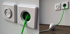 30 Clever Innovations That Totally Need To Be Everywhere Already - extension cords built into the wall.