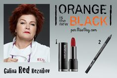 RED -- Makeup inspiration / Inspiration maquillage : Orange is the New Black http://www.missvay.com/2015/07/inspiration-maquillage-orange-is-new-black.html  #oitnb #OrangeistheNewBlack #makeup