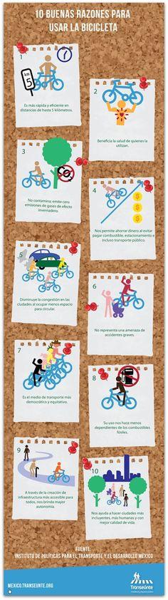 10 razones para usar la #bicicleta #movilidad