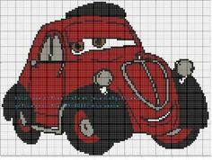Cross Stich Patterns Free, Loom Patterns, Plastic Canvas Crafts, Plastic Canvas Patterns, Disney Cars, Walt Disney, Cross Stitching, Cross Stitch Embroidery, Pixel Crochet Blanket