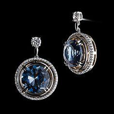 London Blue Topaz Diamond Earrings
