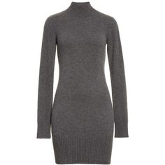Women's Frame Turtleneck Cashmere Sweater Dress ($495) ❤ liked on Polyvore featuring dresses, cashmere turtleneck, sweater dress, cashmere dress, turtleneck tops and turtle neck dress