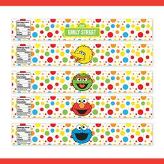 Personalized Printable Sesame Street Water by PartiPartieParty