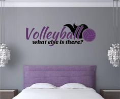 Volleyball Sports Vinyl Decal Wall Stickers Words Letters Teen Room Decor