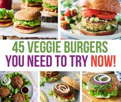 Check out this collection of 45 veggie burgers, which are plant-based, delicious, and ready to add to your menu today! Beet Burger, Chickpea Burger, Lentil Burgers, Quinoa Burgers, Black Bean Veggie Burger, Vegan Burgers, Cheese Stuffed Peppers, Stuffed Sweet Peppers, Cauliflower Burger