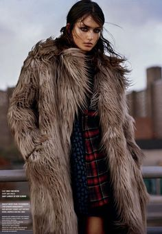 Andreea Diaconu by Alasdair McLellan for V Magazine #backtofall #falllayering