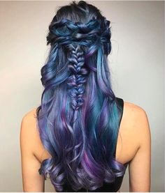 hotonbeauty Beautiful blue color design and chic braided style by @kimwasabi