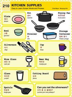 Learning Korean - Kitchen Supplies
