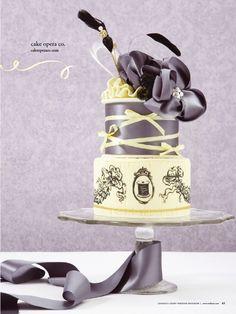 Found on WeddingMeYou.com - Unique Wedding Cake Designs | Haute Couture #weddingcake from Cake Opera | Photo by Anthony Manieri