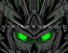 Game Design, Logo Design, Gundam Head, Flat Illustration, T Rex, Cover Design, Custom Design, Behance, Neon
