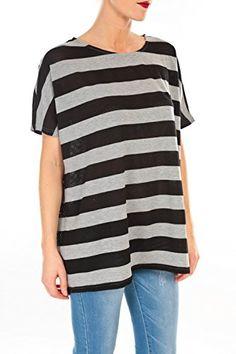 Vero Moda Chella 2/4 Sleeve Top- Grey/Black - UK 10 / US 6 / EU 38 Vero Moda http://www.amazon.co.uk/dp/B00CMQPOQK/ref=cm_sw_r_pi_dp_2SnOwb1D3DPR4