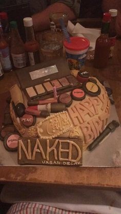 My boyfriend had a makeup cake made for my birthday!