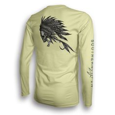 Performance Long Sleeve Fishing Shirt (Native Fly)| Southern Fin Apparel