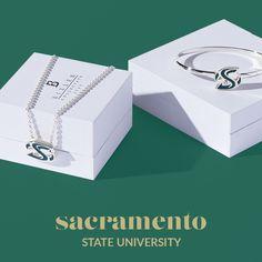 Bixler University creates only the finest officially licensed University or university jewelery Sacramento State, State University, Decorative Boxes, College, University, Decorative Storage Boxes, Colleges