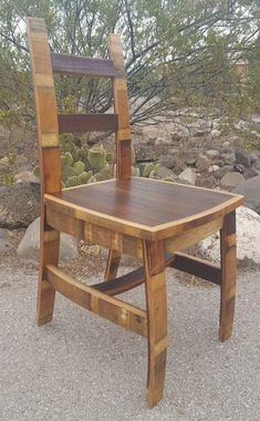Wine Barrel Chair Seat Dining Office