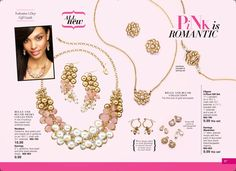 Pink Jewelry - Valentine's Day Gifts for Her from Avon.   Find unique gifts she will love! BeautyWithMary.com #ValentinesDay #Gifts #Valentines #Avon