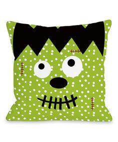 Another great find on #zulily! Frankenstein Dots Throw Pillow #zulilyfinds