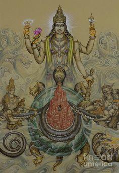 Medium: acrylic on canvas Size: cm Status: This is the series of paintings of 10 avataras of Lord Vishnu for Museum of Sacred art, Belgium Descriptio. Tanjore Painting, Krishna Painting, Krishna Art, Krishna Images, Hare Krishna, Mysore Painting, Krishna Leela, Indian Gods, Indian Art