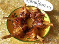 Ailerons de poulet confits au miel - Recette de cuisine Marmiton : une recette Honey Glazed Chicken, Chicken Drumsticks, Tandoori Chicken, Street Food, Barbecue, Chicken Recipes, Turkey, Yummy Food, Cooking