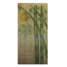 Bamboo Sun is a 90 x beaded door curtain featuring lush bamboo shoots with the sun shining in the background.