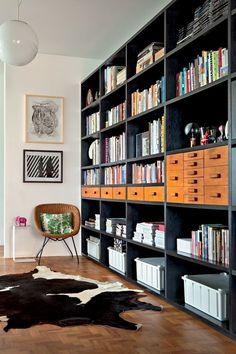designed by Mauricio Arruda   photo by RICARDO LABOUGLE   from Vogue House magazine   shelves!
